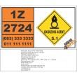 UN2724 Manganese nitrate, Oxidizing Agent (5), Hazchem Placard