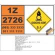 UN2726 Nickel nitrite, Oxidizing Agent (5), Hazchem Placard