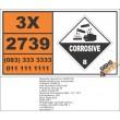 UN2739 Butyric anhydride, Corrosive (8), Hazchem Placard