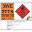 UN2778 Mercury based pesticides, liquid, flammable, toxic, Flammable Liquid (3), Hazchem Placard