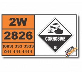 UN2826 Ethyl chlorothioformate, Corrosive (8), Hazchem Placard