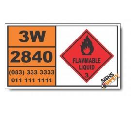 UN2840 Butyraldoxime, Flammable Liquid (3), Hazchem Placard