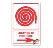 Fire Hose, Arrow Right, Descriptive Safety Sign