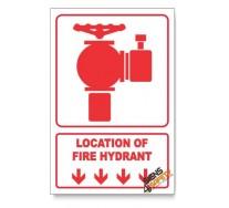 Fire Hydrant, Arrow Down, Descriptive Safety Sign
