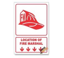 Fire Marshal, Arrow Down, Descriptive Safety Sign