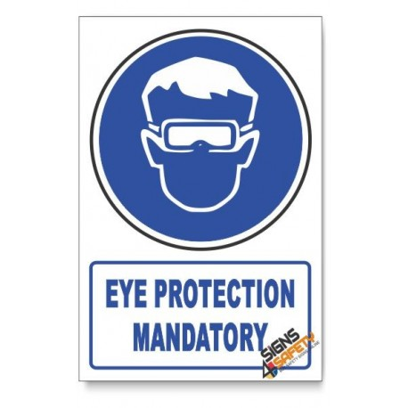 (MV1A/D1) Eye Protection, Descriptive Safety Sign