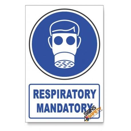 (MV2A/D1) Respiratory Protection, Descriptive Safety Sign