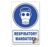 (MV2A/D1) Respiratory Protection, Descriptive Safety Sign