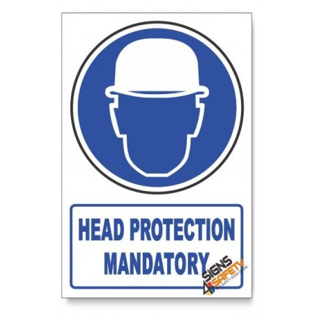 (MV3B/D1) Head Protection, Descriptive Safety Sign