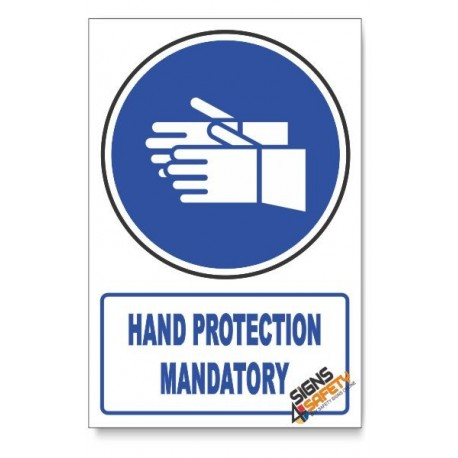 (MV5/D1) Hand Protection, Descriptive Safety Sign