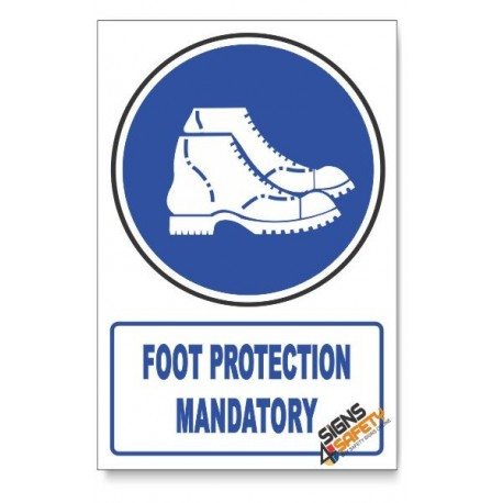 (MV7/D1) Foot Protection , Descriptive Safety Sign