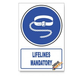 (MV8/D1) Lifelines Mandatory, Descriptive Safety Sign