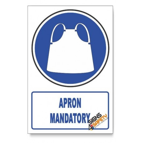 (MV9/D1) Apron Mandatory, Descriptive Safety Sign