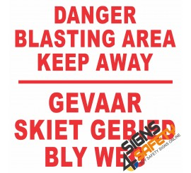 (C3) Danger Blasting Area Keep Away Sign