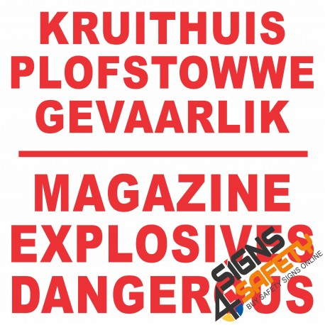 (C4) Danger Magazine Explosives Sign