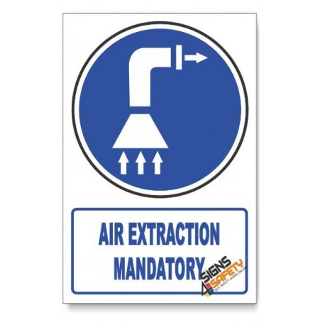 (MV13/D1) Air Extraction Mandatory , Descriptive Safety Sign