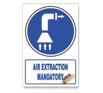 (MV13/D1) Air Extraction Mandatory , Descriptive Safety Sign