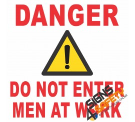 (C12) Danger Men At Work Sign