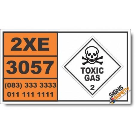 UN3057 Trifluoroacetyl chloride, Toxic Gas (2), Hazchem Placard