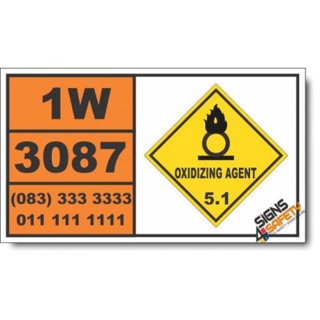 UN3087 Oxidizing solid, toxic, n.o.s., Oxidizing Agent (5), Hazchem Placard