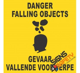 (C19) Danger Falling Objects Sign