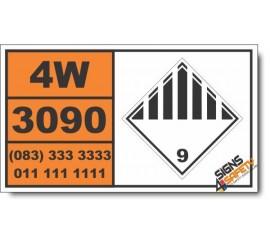 UN3090 Lithium battery, OIther (9), Hazchem Placard