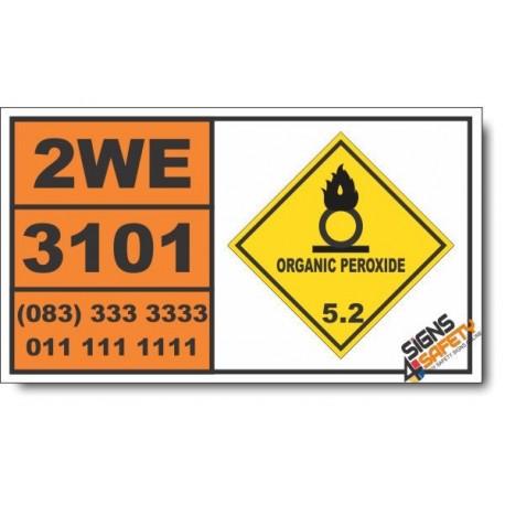 UN3101 Organic peroxide type B, liquid, Organic Peroxide (5), Hazchem Placard