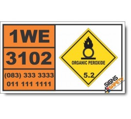 UN3102 Organic peroxide type B, solid, Organic Peroxide (5), Hazchem Placard