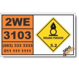 UN3103 Organic peroxide type C, liquid, Organic Peroxide (5), Hazchem Placard