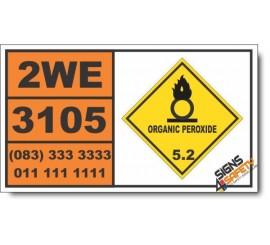 UN3105 Organic peroxide type D, liquid, Organic Peroxide (5), Hazchem Placard