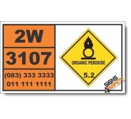 UN3107 Organic peroxide type E, liquid, Organic Peroxide (5), Hazchem Placard