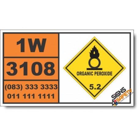 UN3108 Organic peroxide type E, solid, Organic Peroxide (5), Hazchem Placard
