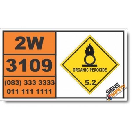 UN3109 Organic peroxide type F, liquid, Organic Peroxide (5), Hazchem Placard
