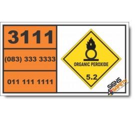 UN3111 Organic peroxide type B, liquid, temperature controlled, Organic Peroxide (5), Hazchem Placard