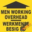 (C21) Men Working Overhead Sign