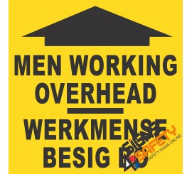(C21) Men Working Overhead Sign