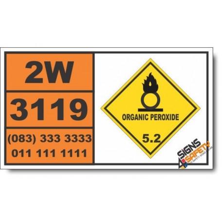 UN3119 Organic peroxide type F, liquid, temperature controlled, Organic Peroxide (5), Hazchem Placard