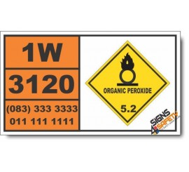 UN3120 Organic peroxide type F, solid, temperature controlled, Organic Peroxide (5), Hazchem Placard