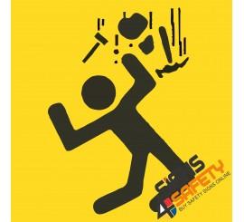 (C22) Men Working Overhead Sign
