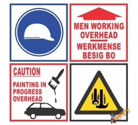 (C26) Caution Men Overhead Sign
