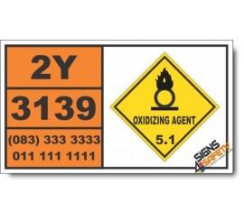UN3139 Oxidizing liquid, n.o.s., Oxidizing Agent (5), Hazchem Placard