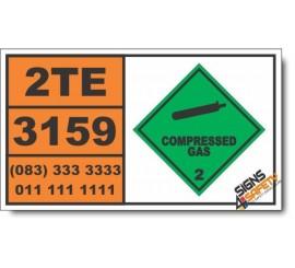 UN3159 1,1,1,2-Tetrafluoroethane or Refrigerant gas R 134a, Compressed Gas (2), Hazchem Placard