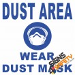 (C32) Dust Area / Wear Dust Mask Sign