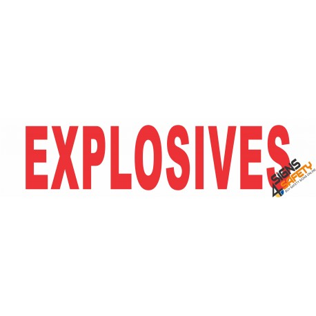 (C6) Explosives Sticker