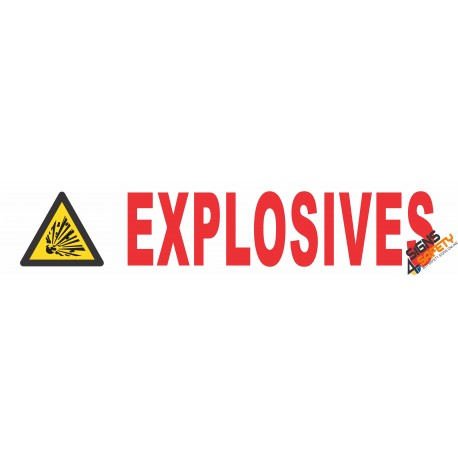 (C7) Explosives Sticker