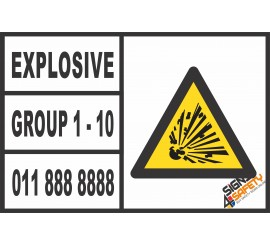 (C8) Explosives Group 1 - 10 Sticker