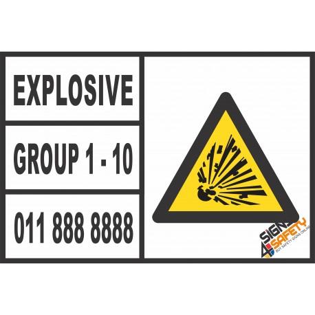 (C8) Explosives Group 1 - 10 Sticker