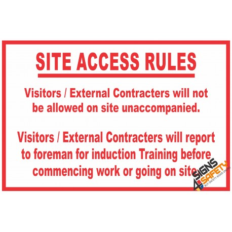(C24) Site Access Rules Sign
