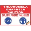 (C28) Caution Power Tools Sign