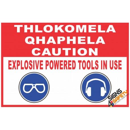 (C28) Caution Power Tools Sign